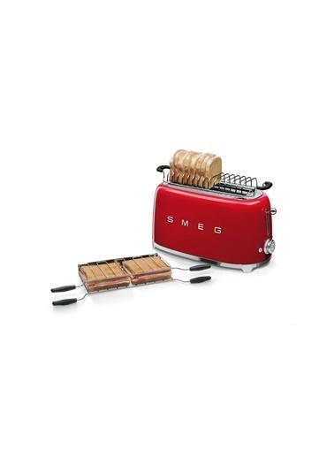 Smeg Tsf02Rdeu Retro Kırmızı 2X4 Slot Ekmek Kızartma Makinesi Kırmızı